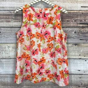 Ann Taylor LOFT Medium Sleeveless Blouse Floral